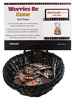 Basket Worries Be Gone Lucky Trinket 36pcs | A magical Charm to help take someones worries away!