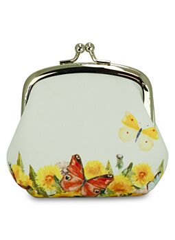 Beautiful Cloth Covered and Lined Coin Purse Spring Party