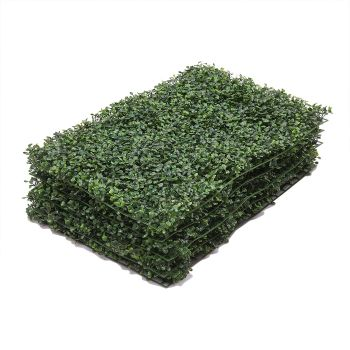 1x Artificial Boxwood Hedge Fake Vertical Green Wall Mat Fence Outdoor