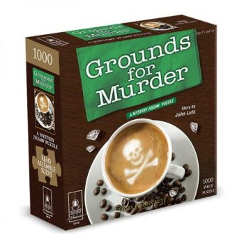 """Grounds for Murder Classic Mystery Jigsaw Puzzle 8 x 8"""""""
