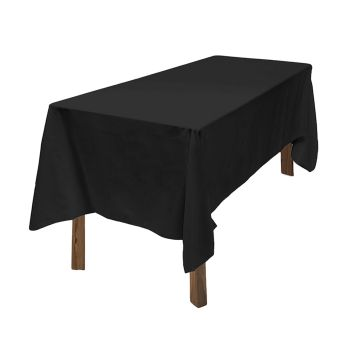 4x Fitted Tablecloth for Wedding and Events in Black