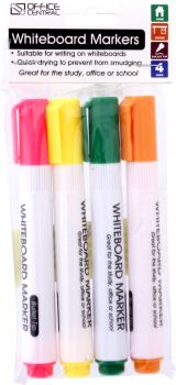 Markers Whiteboard (Coloured) 4pk