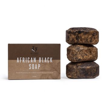 Deluxe African Black Soap 3 Pack 450g (10 pack) - All Natural, Certified Organic, Fair Trade Soap