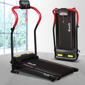 Everfit Electric Treadmill 280RD Walking Folding Exercise Machine Home Gym Fitness Equipment Red