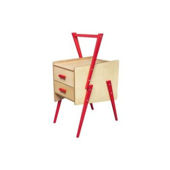 Swing Side End Table - Red