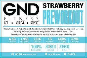 GND Pre-Workout 250G // Strawberry-Apple - Strawberry-Apple 250g