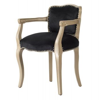 Black Winged Arm Chair