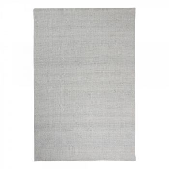 """Hand Woven Jacquard Rug """"Signature"""" in Off White. Size 200x290 cm"""