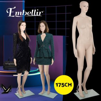 Full Body 175cm Female Mannequin Head Torso Clothes Display Dressmaking Showcase