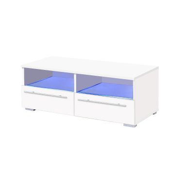 Levede TV Entertainment LED Cabinet in White Colour
