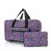 Eco Chic Purple Ditsy Doodle Holdall Bag