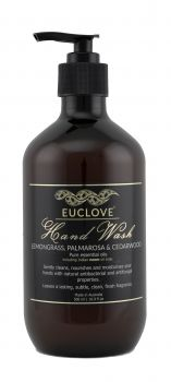 Euclove Handwash Palmarosa, Lemongrass & Cedarwood 500 ml Carton of 6 pieces