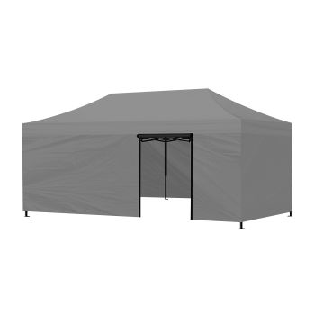 Mountview Foldable Pop Up Gazebo Canopy 3x6M in Grey Colour