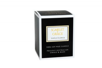 Scarlet & Grace 340G Soy Wax Candle - Lotus Flower Fragrance