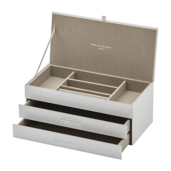 GABRIELLA White Large Jewellery Box