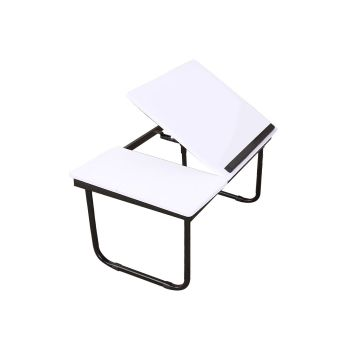 Portable Foldable Bed Table Stand in White