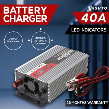 NEW ! 12V Battery Charger 40 Amp12V / 240V 40A ATV Boat 4WD Caravan Motorcycle