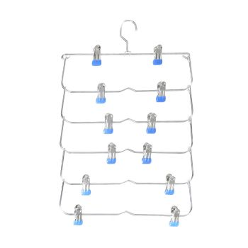 Skirt/Pant Space Saver Clip Hangers in Blue