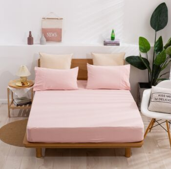 Dreamaker cotton Jersey fitted sheet Single Bed Pink