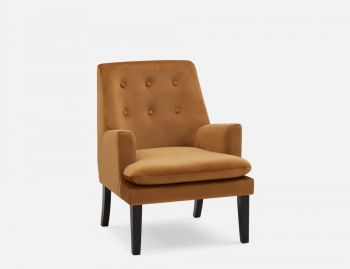 Masha Accent Lounge Fabric Arm Chair - Dark Yellow