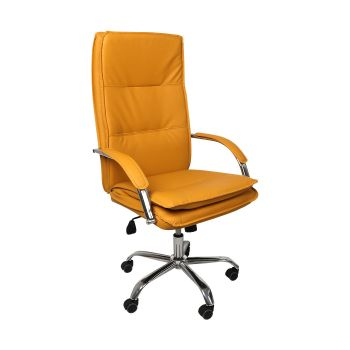 Exective Gaming Chair PU Leather Office Chairs Computer Wheel Seat in Ginger Colour