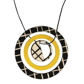 Pendant in yellow with lines