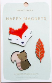 Happy Magnet Fox