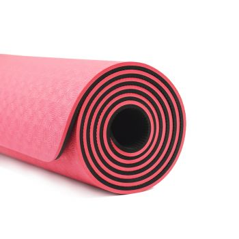 TPE Yoga Mat Eco Friendly Exercise Fitness Gym Pilates Non Slip Dual Layer Red