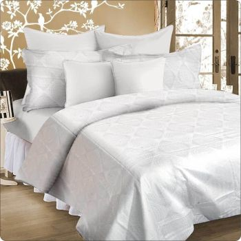 King Bed Quilt cover set WHITE