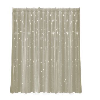 DreamZ Blockout Curtain Pure Fabric Star Curtains Eyelet Fabric in Cannoli Cream
