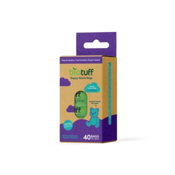 Biotuff nappy waste eco pouch 4 rolls - 40 bags