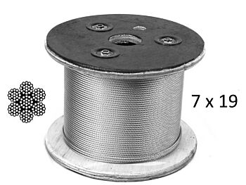 6.4mm 7x19 G316 Stainless Steel Wire Rope