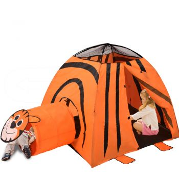 BoPeep Kid Children Pop Up Play Tent Cubby Playhouse Kids Gift Toy Tiger Print