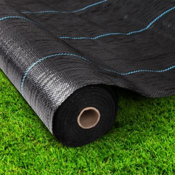 Instahut 3.66m x 50m Weed Mat Control Weedmat Woven Fabric Gardening Plant PE