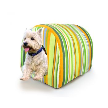 PaWz Pet Dog House Kennel Soft Igloo Beds Cave Cat Puppy Bed  Cushion M Green
