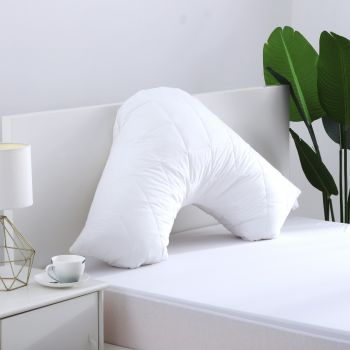 Dreamaker Cotton Cover Microfibre Filling Quilted Pillow Protector - V shape