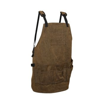 Waxed Waterproof Apron with Pockets for Paintiing and Woodworking