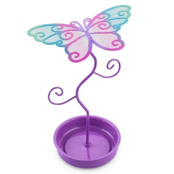 Colourful butterfly earring stand-pu