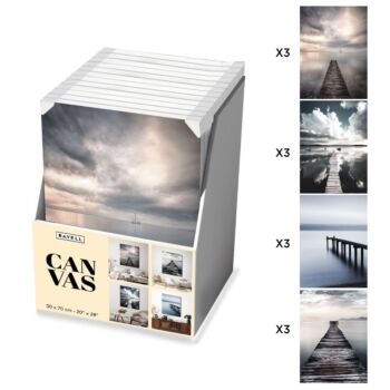 12 Piece Boxed Artwork -  Pontoon Collection - 50x70
