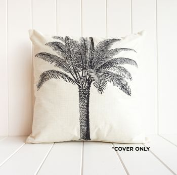 Indoor Cushion COVER - Monochrome Date Palm - 45x45