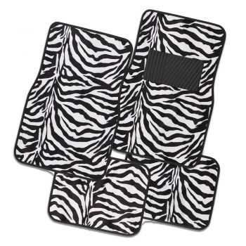 Safari Carpet Mat White Zebra