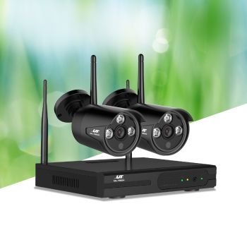 ULtech Wireless CCTV Security Camera System Outdoor 4CH WIFI 1080P Day Night