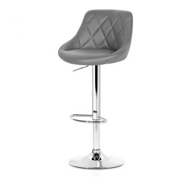Artiss 4x Kitchen Bar Stools Swivel Bar Stool PU Leather Gas Lift Chairs Grey
