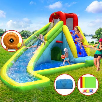 Happy Hop Inflatable Water Slide Jumping Trampoline Castle Bouncer Toy Splash Kid