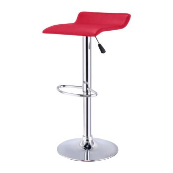 2x Levede PU Leather Swivel Bar Stools Adjustable Gas Lift Chairs in Red
