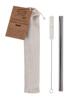 Eco Basics Stainless Steel Straw with cleaner and Pouch - 12mm