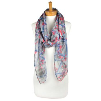 Criss Cross Dotted Scarf