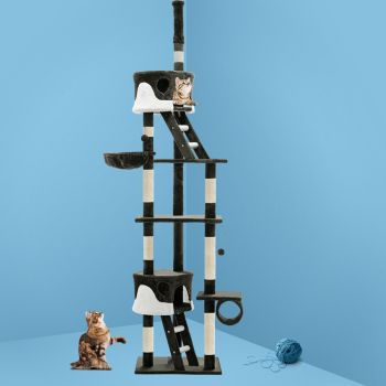 i.Pet Cat Tree Trees Scratching Post Scratcher Tower Condo House Furniture Wood 260cm