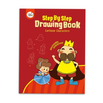 DRAWING BOOK-CARTOON CHARACTERS (STEP BY STEP)