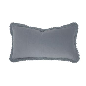Velvet Cushion Filled 30x60cm Steel Blue
